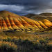 wilderness, nature, scenic, great basin, desert, painted hills, oregon, storm