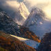 Patagonian fiords, mountains, angel wings