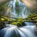 Oregon, Proxy Falls, Cascade, Mist, Beams, Forest