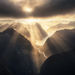 aerial, Milford sound, New Zealand, beams, sunlight