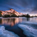 clouds, mount jefferson, long exposure, icy, lake, reflected, oregon