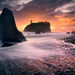 waves, wave, vibrant, sunset, washington, ruby beach