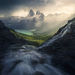 cascades, water, rushing, mountains, coast, British Columbia