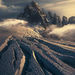 Devil's Thumb, Alaska, Crevasse, glacier, snow, ice, sunset, northwest face
