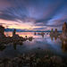 mono lake, twilight, california, long exposure, clouds, water