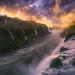 sunset, Brazil, iguazu, iguassu, falls