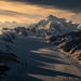 Wrangell, st Elias, glacier, sunset, shadows, peaks, mountains, Alaska, southeast, national park, kluane, Yukon