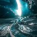 glacier, ice cave, blue, cold, frozen, Alaska, boundary range, icy