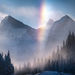 ice bow, ice rainbow, extreme cold, Canadian Rockies
