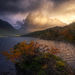 rain, sunrise, beams, autumn, Chile, Torres del Paine