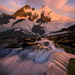 Glacier, Cascades, Boundary Range, Alaska, Sunrise, Talus