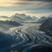 glacier, mountains, Wrangell, ice flow,
