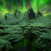 Mist, Cliff, Ogilvie Mountains, Yukon, Aurora, peaks, snowy