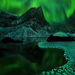 amazing, wilderness, lake, mountains, aurora, yukon, tombstone