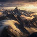 New Zealand, cook, Tasman, aerial, sunset