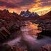Yukon, peaks, sunset