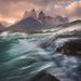 wind, lake, waves, patagonia, torres del paine, chile