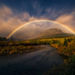 Moon, Moonlight, Moonbow, Rainbow, Night, Glacier, Montana, Autumn