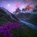 glacier, peaks, Alaska, takhinsha, summer, waterfall