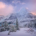 Mount Robson, British Columbia, Peak, Mountain, Winter, Snow, Sunset, Canada