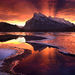 amazing, sunrise, banff, canadian rockies, nature, intense