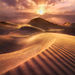 United Arab Emirates, Light, Vibrant, Beams, SUnset, windy, dunes