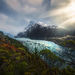 Chile, fiords, rainforest, coigue, beams, mountains, glacier, waterfall, Patagonia