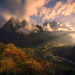 Makalu, himalaya, tibet, sunset, autumn