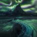 Yukon, aurora, ice, tombstone