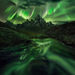 night, aurora, yukon, canada, ogilvie, peaks, mountains