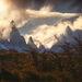 jagged, peaks, Argentina, autumn