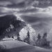 winter, blowing, snow, cascade, oregon, range, peak