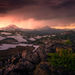 Lightning, Thunderstorm, Three Sisters, Oregon, Sunset, Peaks
