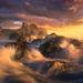 Seal Rocks, oregon, coast, waves, sunset