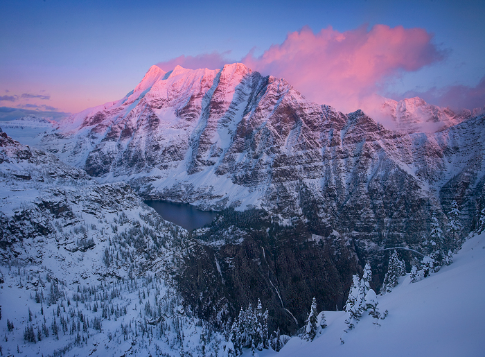 stunning, high, elevation, glacier, national park, waterfall, snow, photo