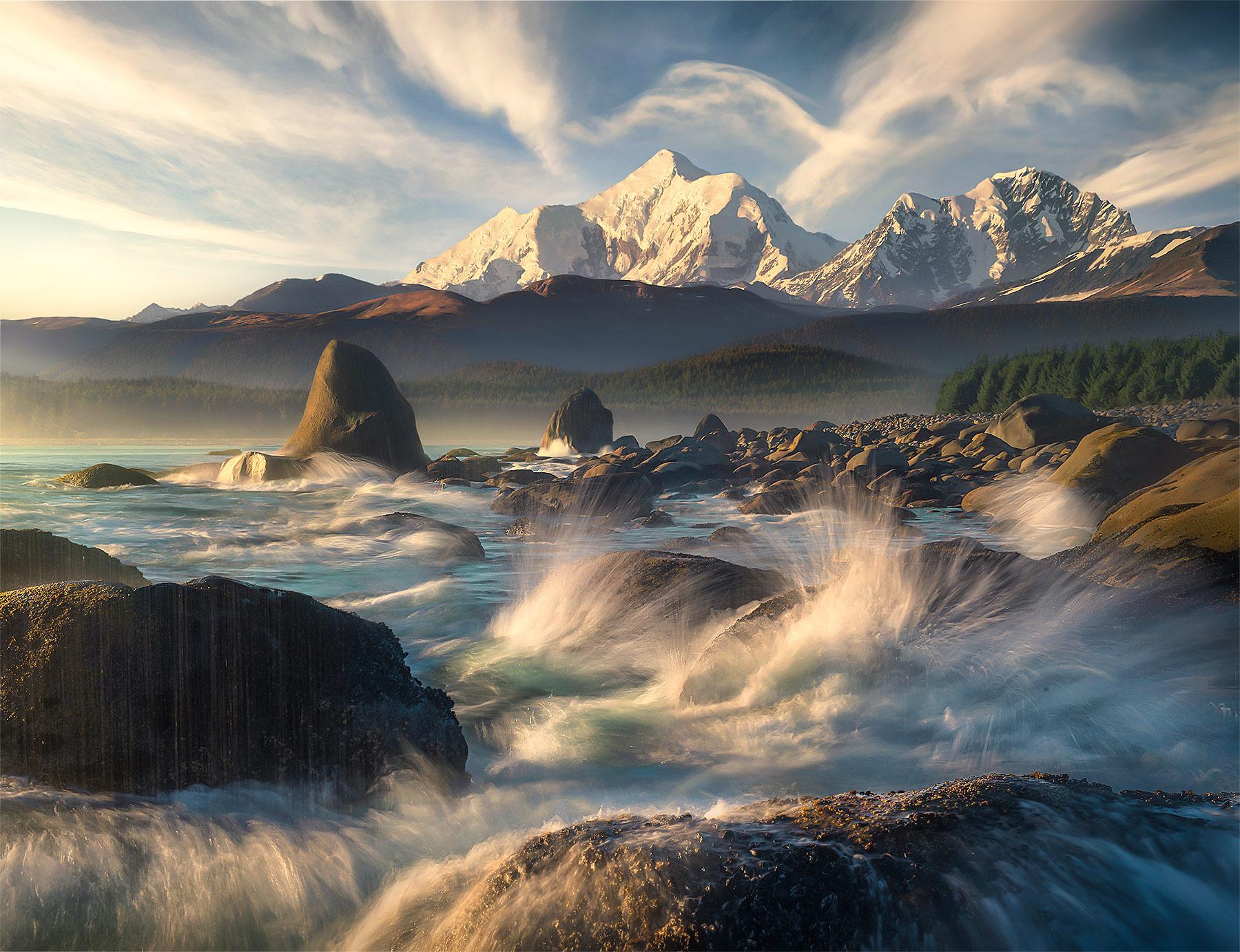 Lituya, Fairweather, Alaska, Bay, Shore, Waves, Beach, Alaska, photo