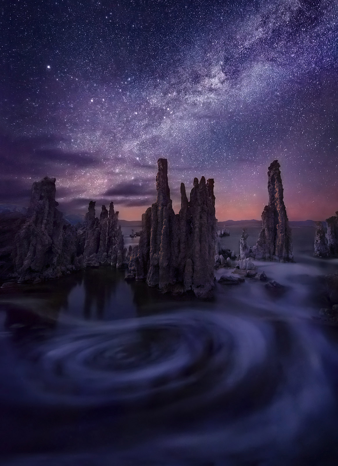Milky Way, Mono, Lake, night, long exposure, california, photo