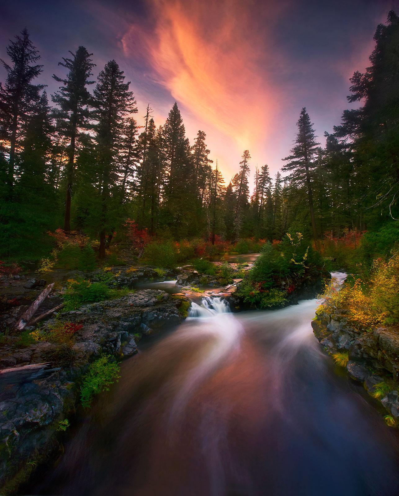 Sunset, Oregon, Rouge, River, Rouge River, Autumn, Foliage, Colorful, beautiful, wild, photo