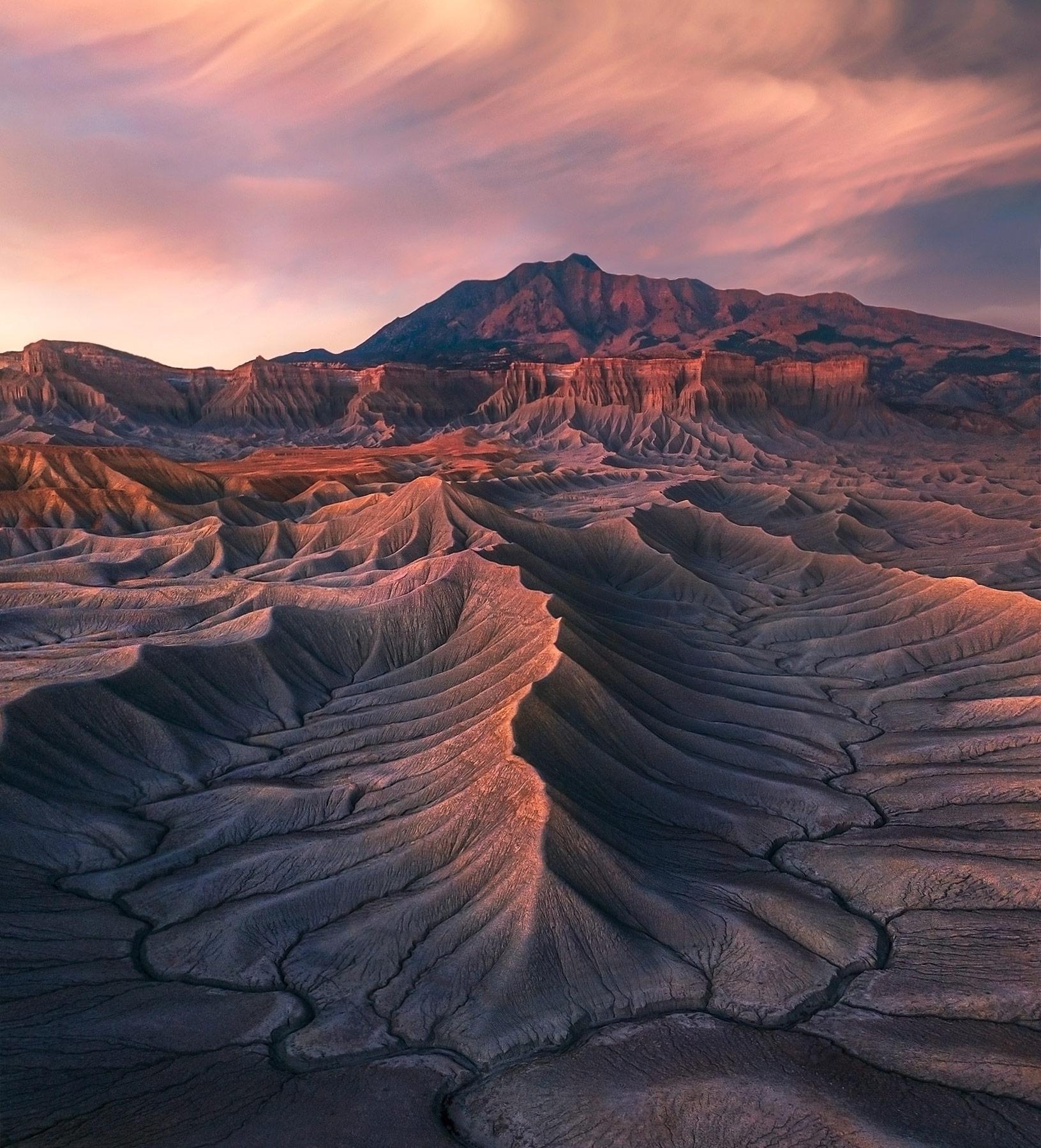 badlands, Utah, arizona, sunset, photo