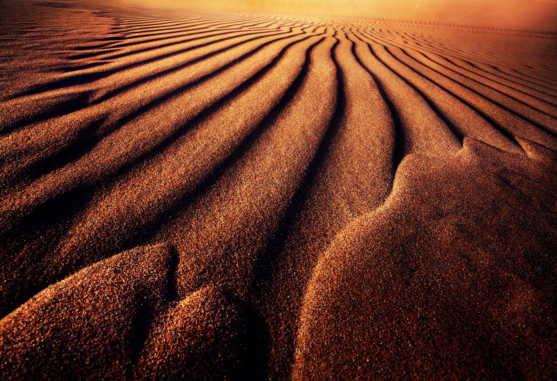 Sand, sand, sand and more sand. Just a little light, contrast and you have a powerfully graphic abstraction. This type of photography...