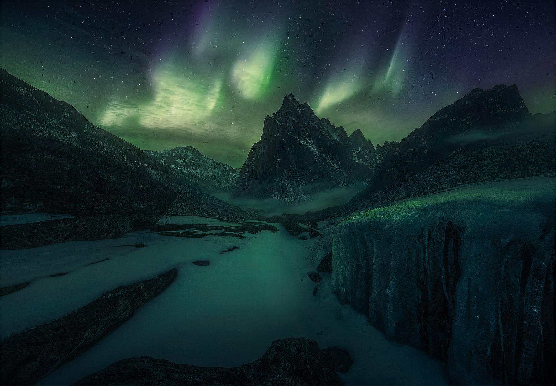 Mackenzie mountains, northwest territories, Canada, peaks, aurora, snow, cold, far north, nahanni, photo