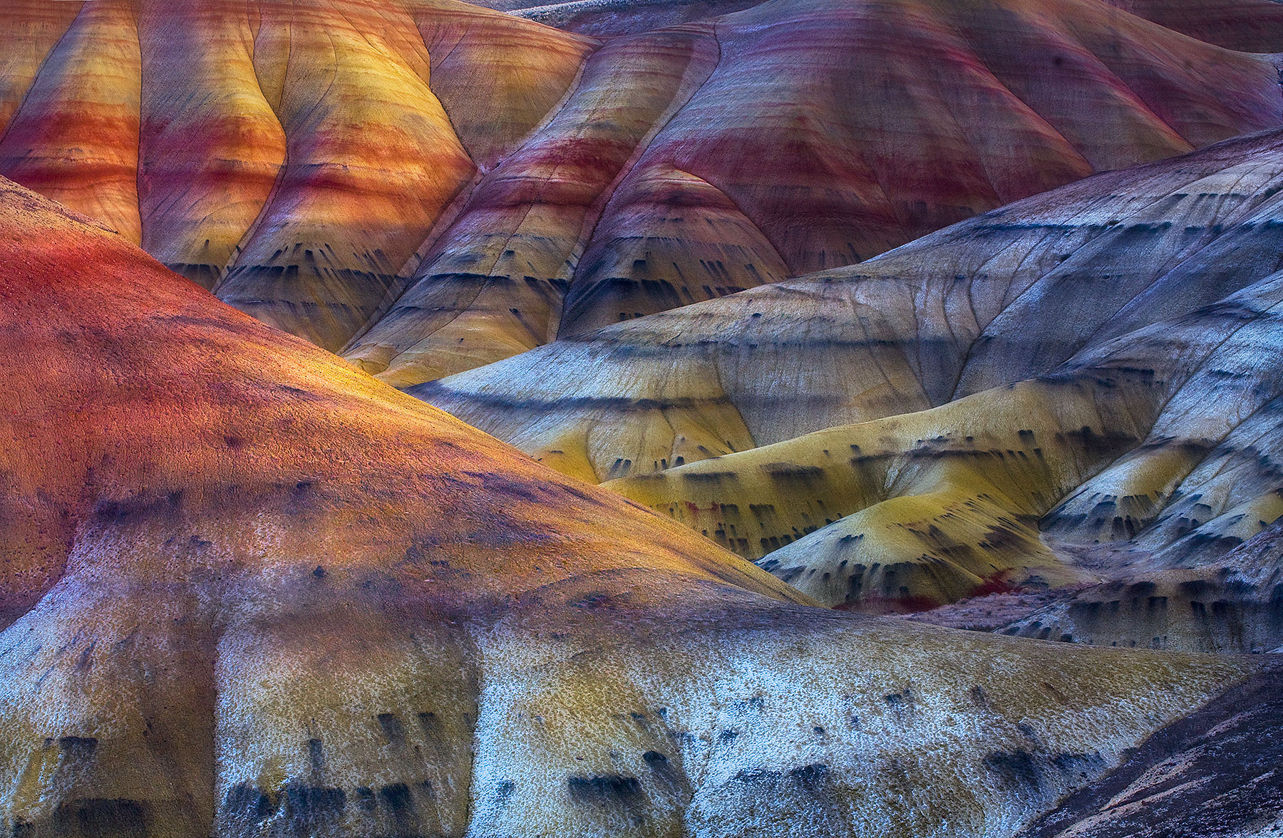 wilderness, nature, scenic, great basin, desert, painted hills, winter, snow, oregon, colors, photo