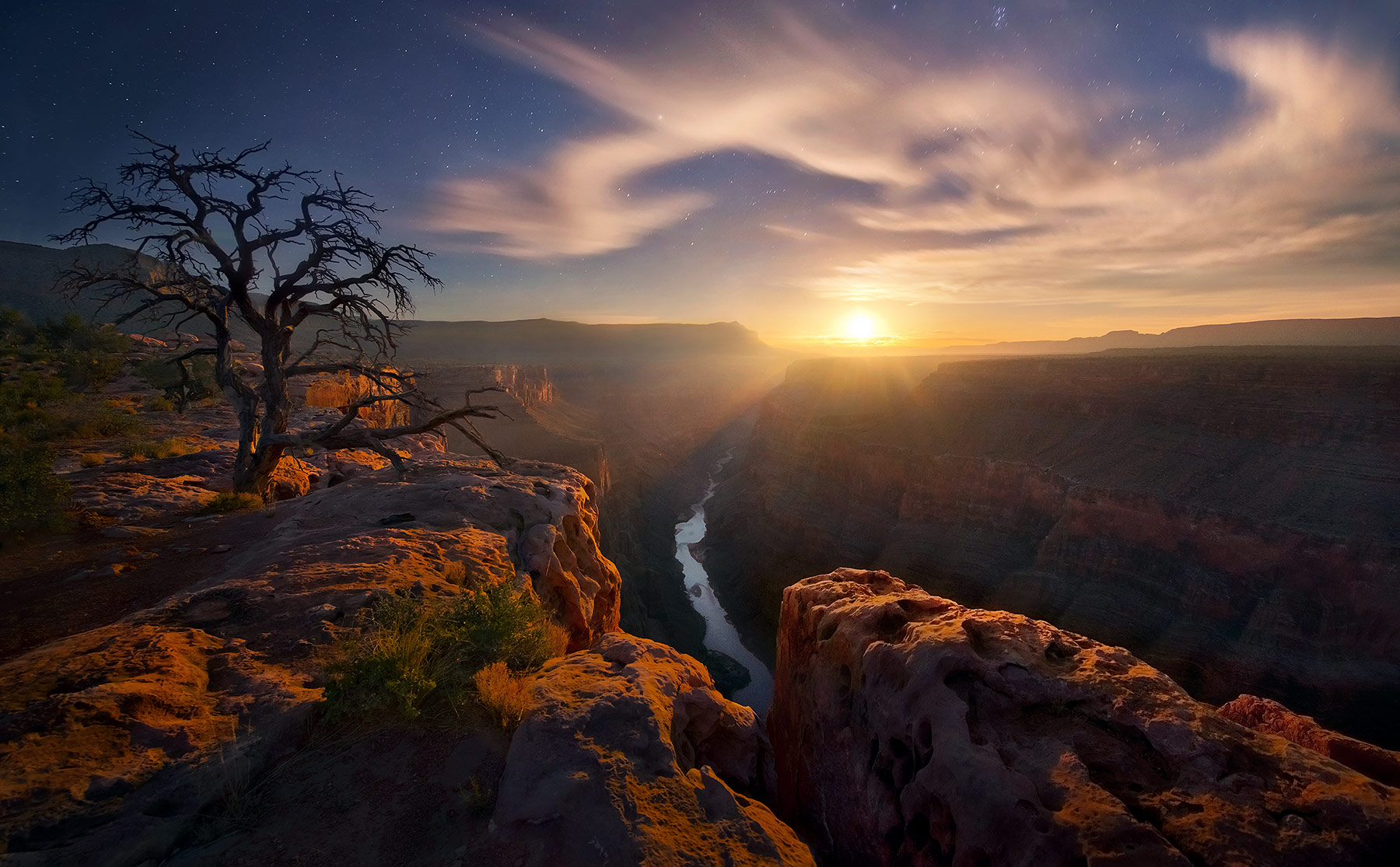 Moonlight, Grand Canyon, photo