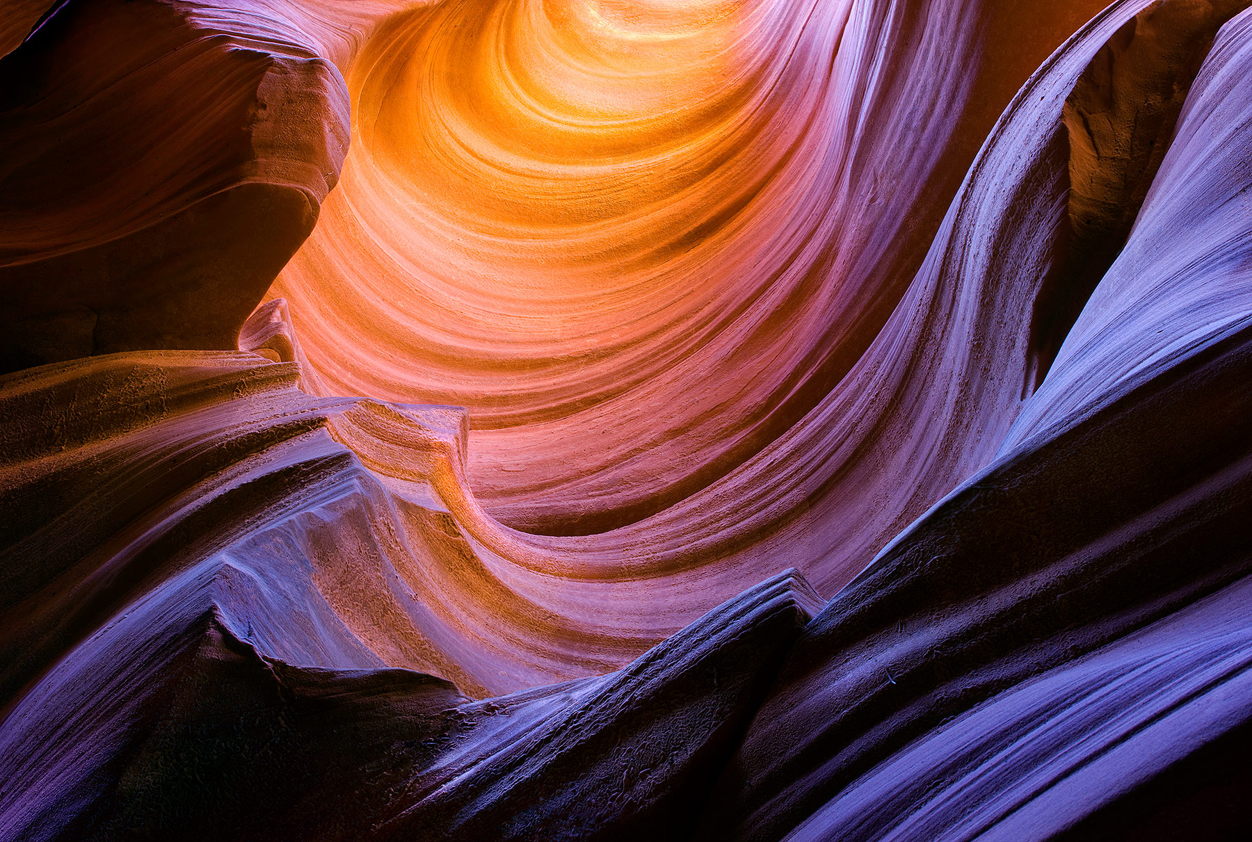 sandstone, remote, deep, canyon, slot canyon, colorful, photo