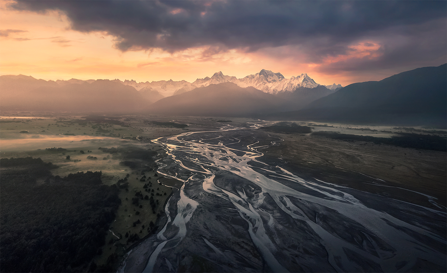 drone, mount cook, New Zealand, aerial, photo