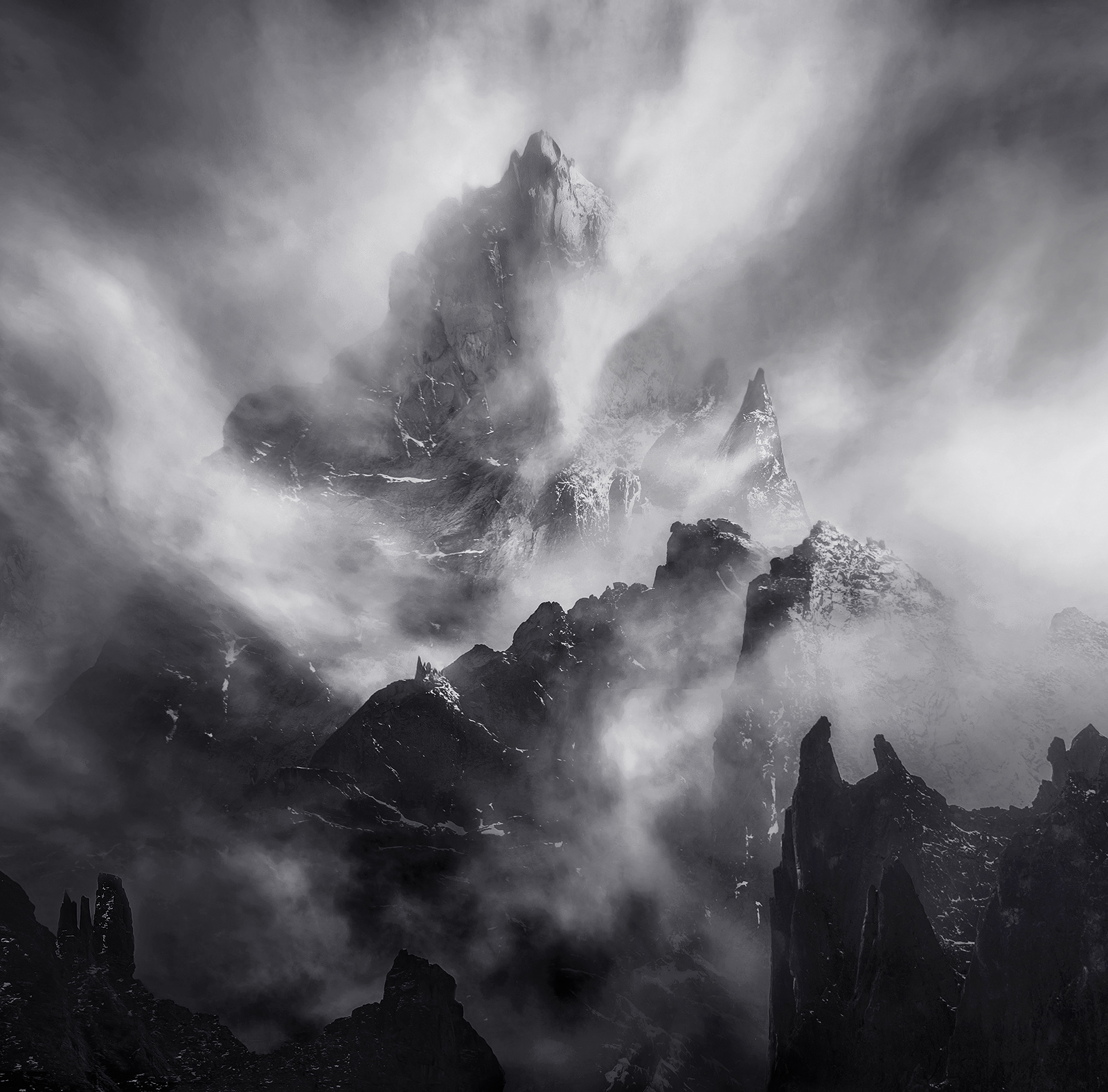 An artistic rendition featuring the dramatic layers of peaks that make up the Yukon's Far North.