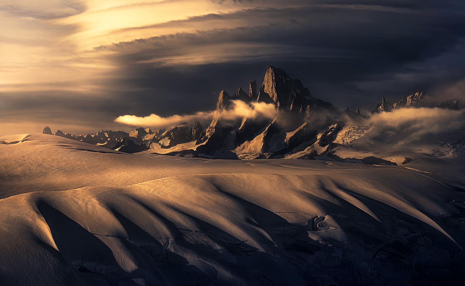 Devil's thumb, lenticular, storm, peaks, alaska, photo