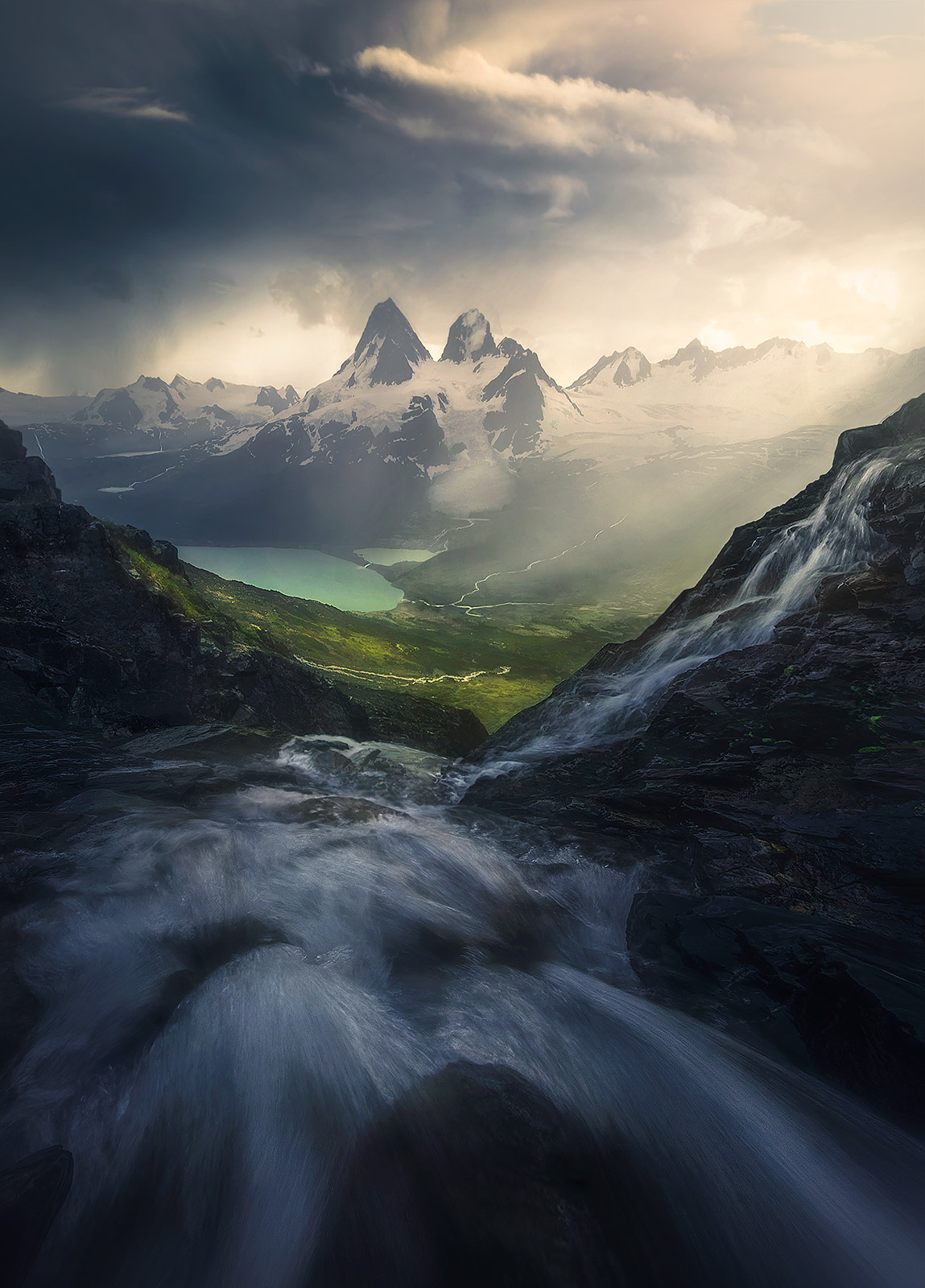 cascades, water, rushing, mountains, coast, British Columbia , photo