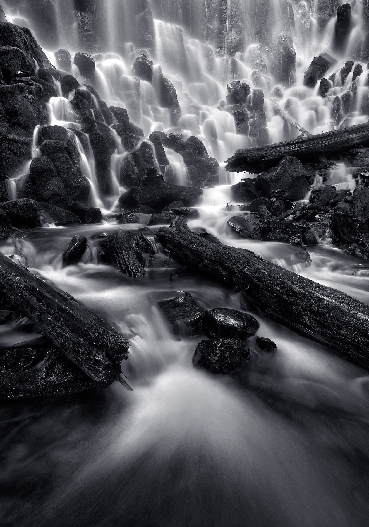 I'm always amazed at the varied tiers and textures of the massive Ramona Falls, in Oregon's Mount Hood Wilderness.