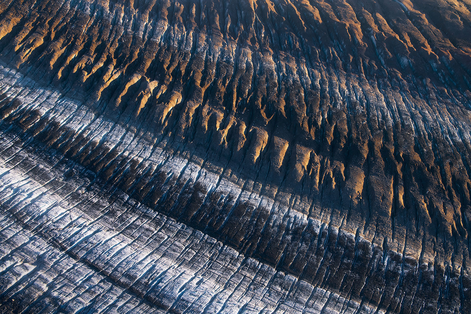 Alaska, glacier, Wrangell, st Elias, Yukon, kluane, moraine, lateral , photo
